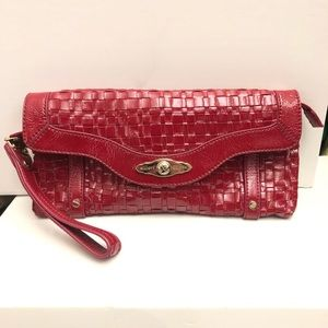 Elliott Lucca Red Patent Leather Clutch
